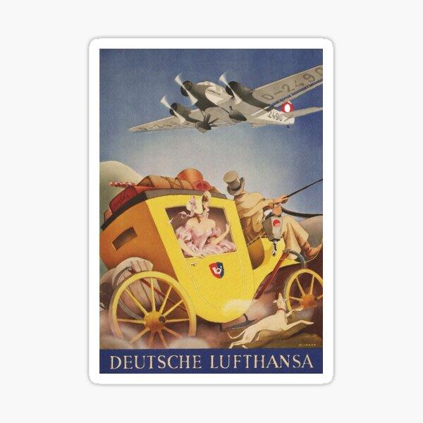 Lufthansa Time Warp.. Tempus Fugit.. Time Flies Sticker