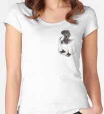 Pocket Protector - Male Raptor Women's Fitted Scoop T-Shirt