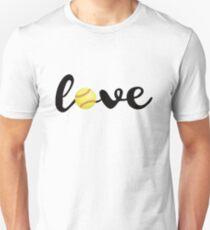 Love Softball T Shirt Sports Fans Softball Players Gift Tee Unisex T-Shirt