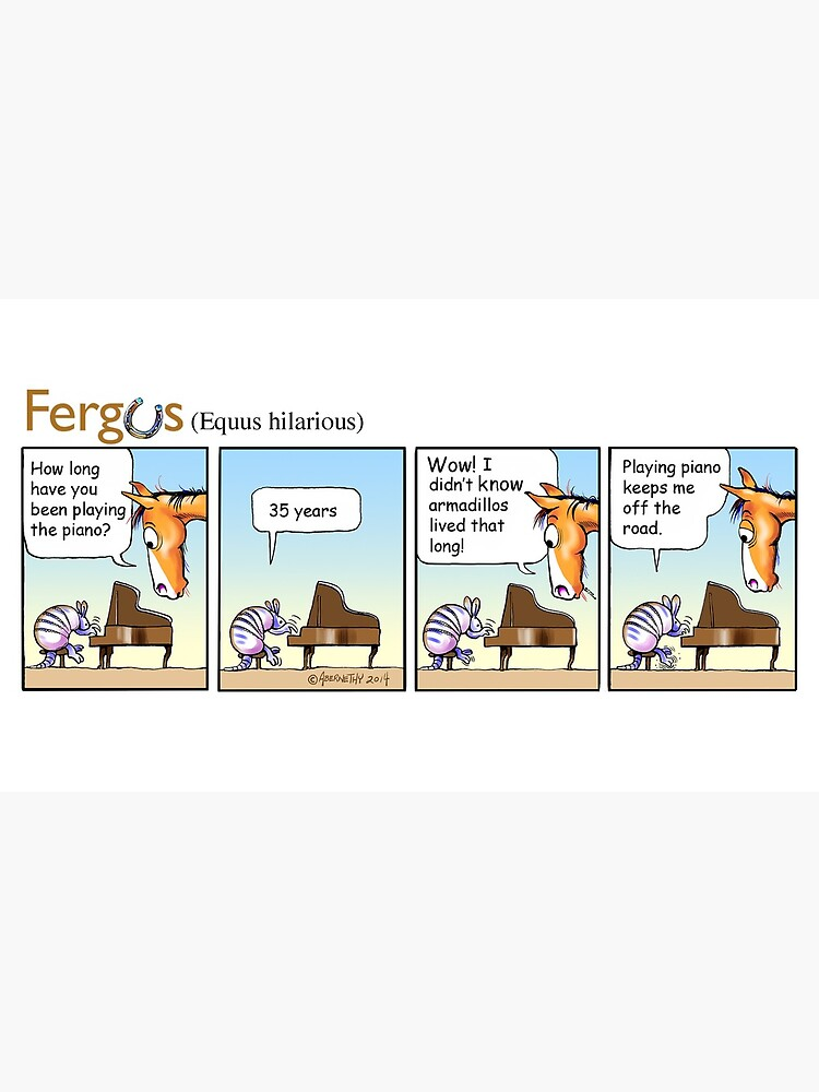 """Fergus the Horse: """"Armadillo"""" Comic Strip by JeanAbernethy"""
