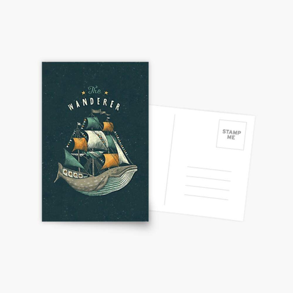 Whale   Petrol Grey Postcard