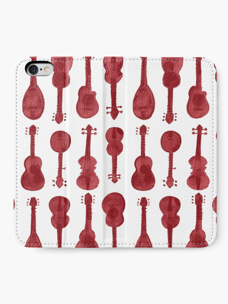 Alternate view of mama don't allow no music - in wine iPhone Wallet