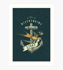 Anchor | Petrol Grey Art Print