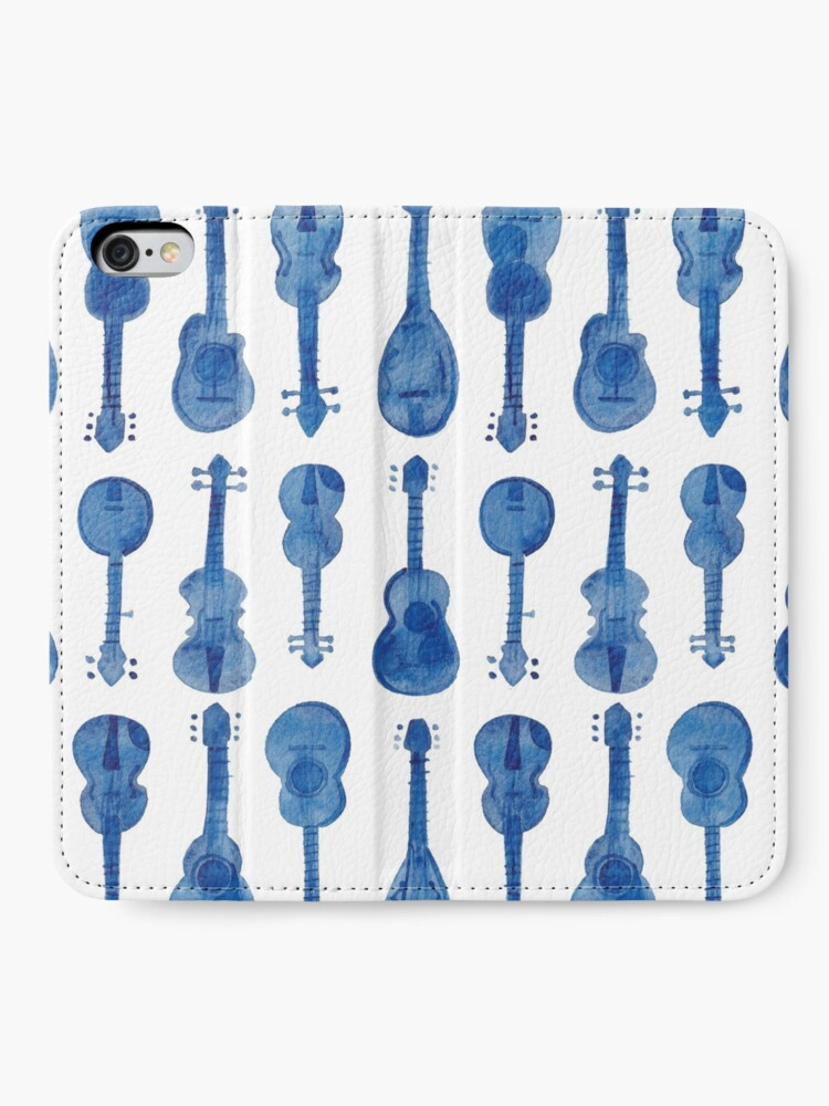 Alternate view of mama don't allow no music - in blue  iPhone Wallet