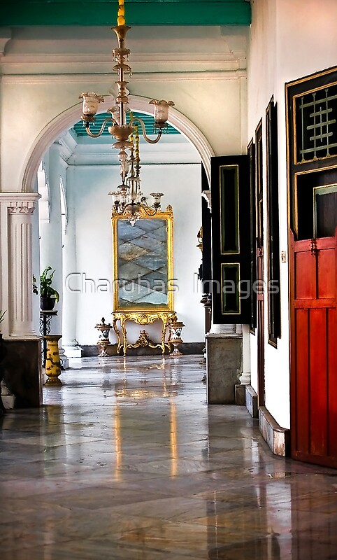 A corridor in keraton sultan palace yogyakarta posters for Home decor yogyakarta