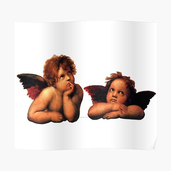 Angel eyeroll design Poster