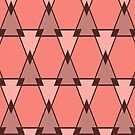 Triangles pattern in coral by walstraasart