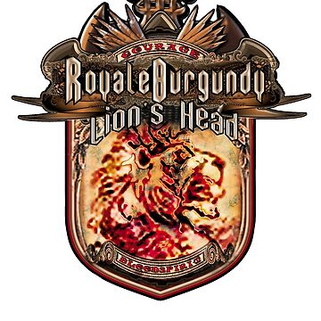 Royale Burgundy Lion Head by Trickmaster