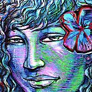 Woman Girl Female Lady Human Rainbow Beach Flower Hawaii Magic Mythical by kaiascopic