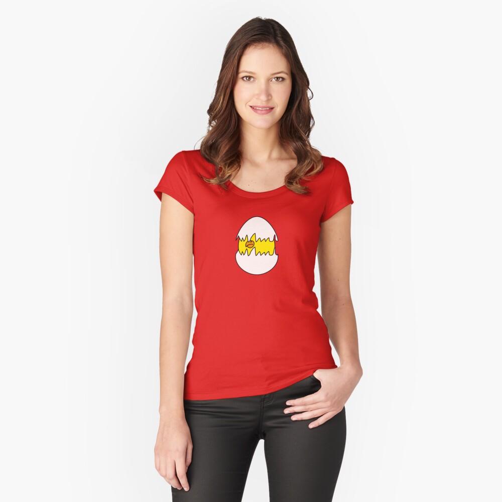 Baby Bird Camiseta entallada de cuello ancho