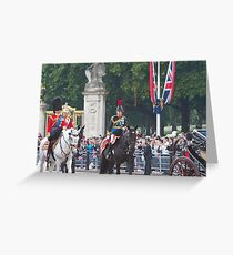 Princess Anne on horseback Greeting Card