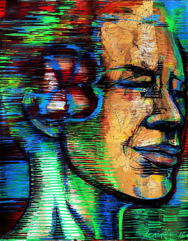 GLEN Man Human Lord Guy Ghandi Wise Wisdom Zen  by kaiascopic