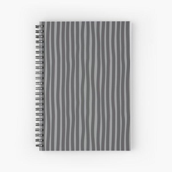 Wobbly Stripes - Grey/Gray Spiral Notebook
