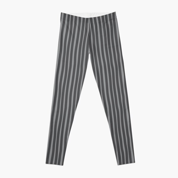 Wobbly Stripes - Grey/Gray Leggings