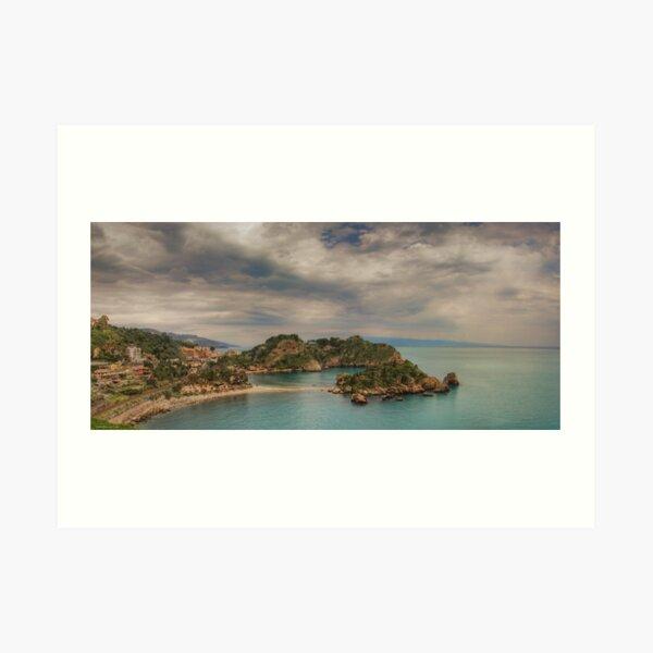 Panoramic view of Isola Bella Art Print