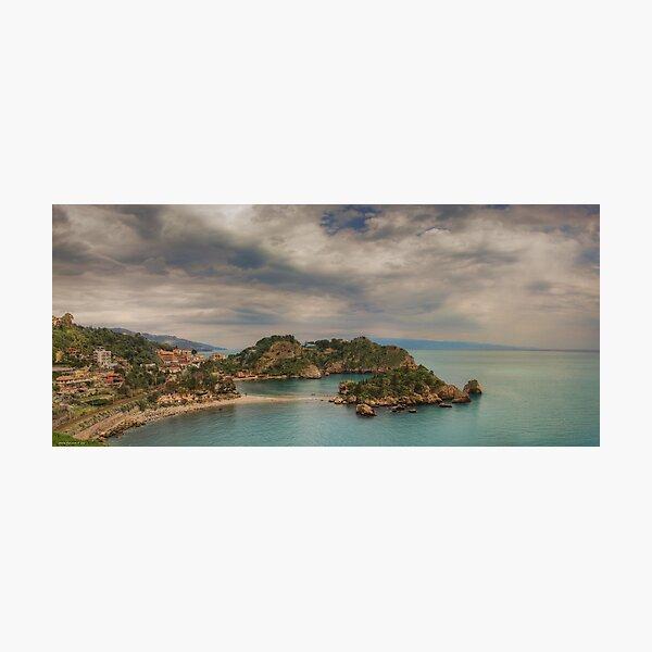 Panoramic view of Isola Bella Photographic Print