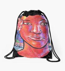 Woman Girl Female Lady Beach Human Zen KRIS Drawstring Bag
