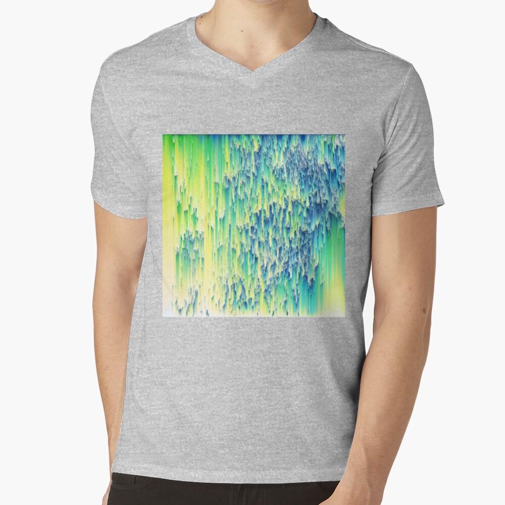 Pixel sort abstraction V-Neck T-Shirt