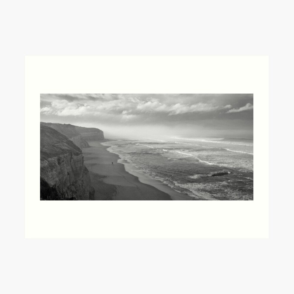 First Footsteps On The Beach Art Print