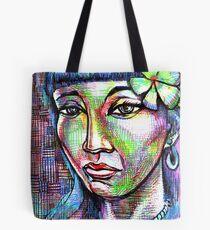 woman Girl female lady mermaid ocean sea siren Pin Tote Bag