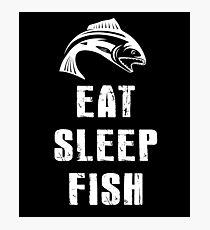 Eat, Fish, Sleep - Fisherman Gift T-Shirt Photographic Print