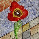 Kathy's Tulip in Full Bloom by Anne Gitto