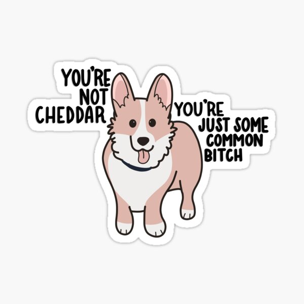 Not Cheddar Sticker
