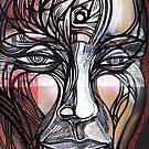 Man Human guy dude spiral head face portrait by kaiascopic