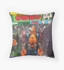 Mobile Suit Garfield Throw Pillow