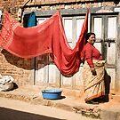 Kirtipur Woman by Kingston  Liu