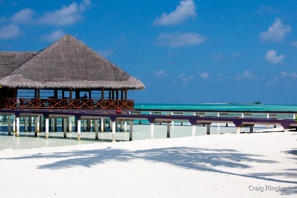 Beach Bar Over Water Medhufushi Maldives by Craig Ringland