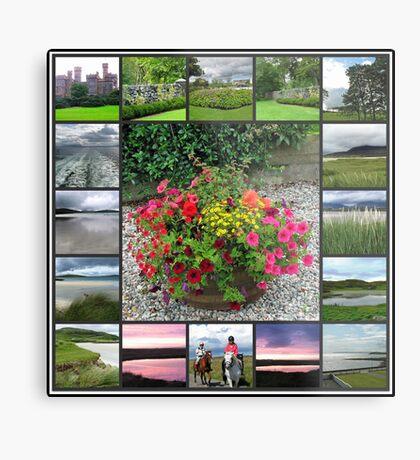 Hebridean Interlude Collage - Western Isles, Scotland Metallbild