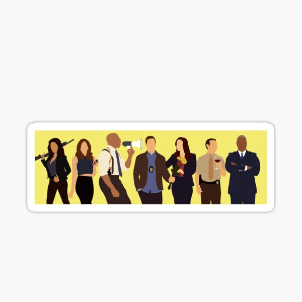 Brooklyn Nine-Nine Cast Sticker