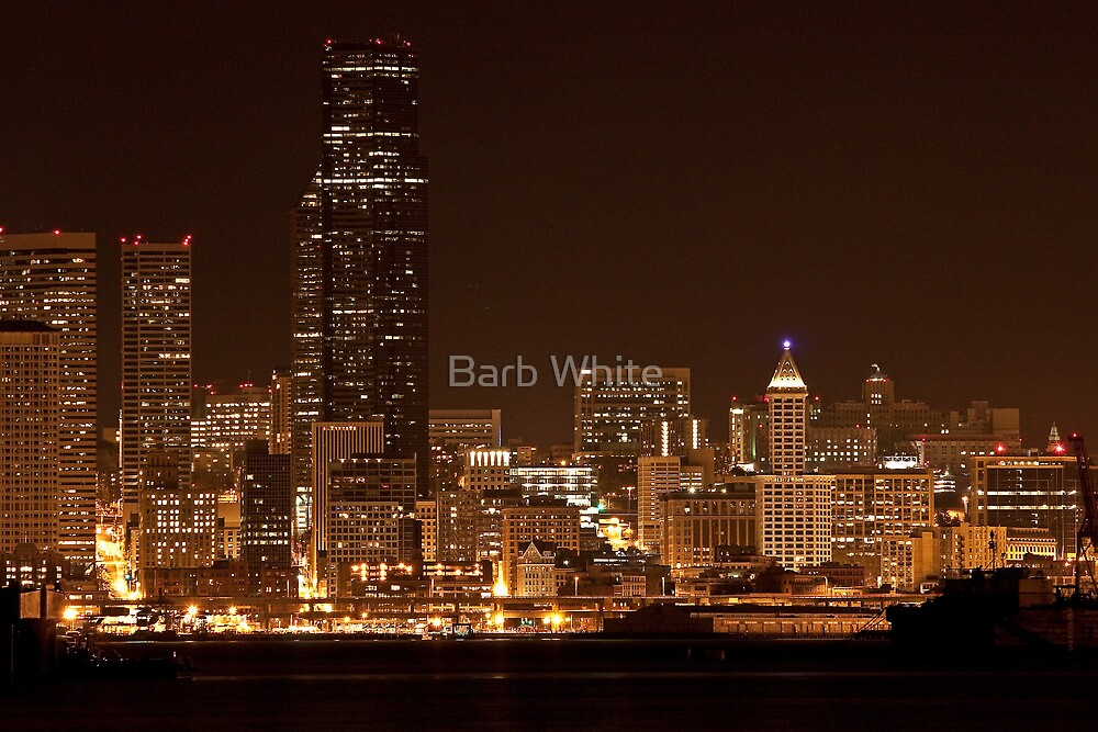 After Dark in Seattle by Barb White