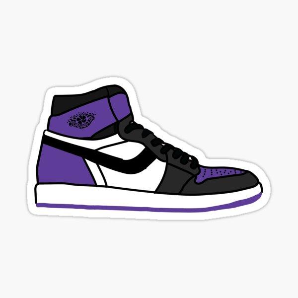 Court Purple Sneaks Sticker