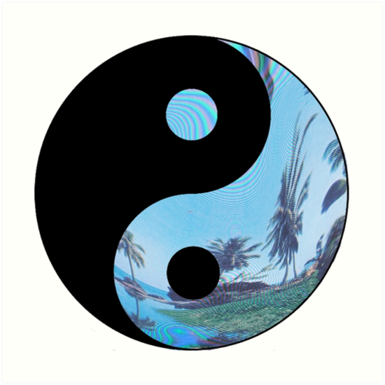 Quot Palm Tree Yin Yang Tumblr Quot Art Prints By Jade Bridgeman