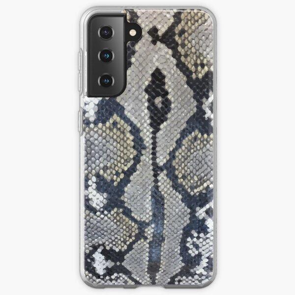 Python snake skin texture design Samsung Galaxy Soft Case