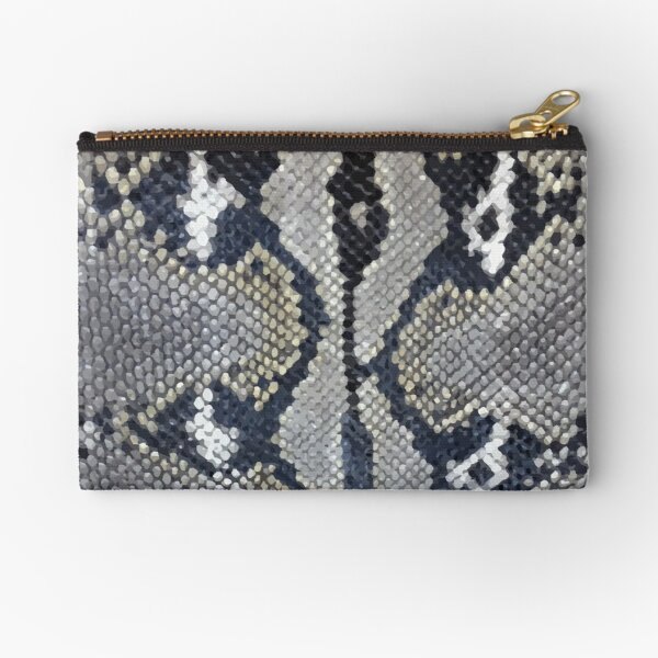 Python snake skin texture design Zipper Pouch