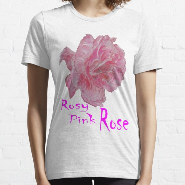 Rosy Pink Rose Essential T-Shirt