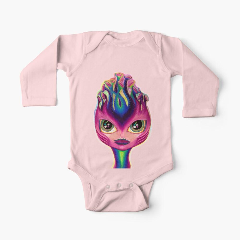 YELTY6F Alien Spaceship Printed Newborn Baby Boy Girl One-Piece Suit Long Sleeve Rompers Black