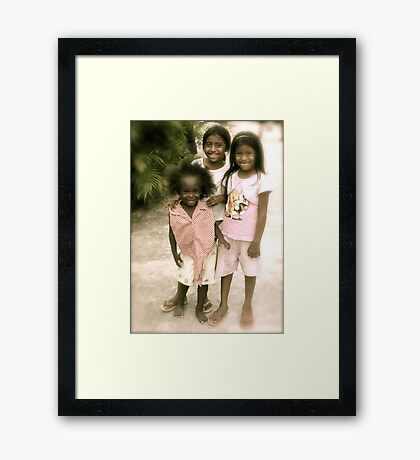 Children of Livingston Framed Print