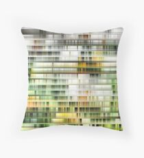 Modern High Rise Apartments Throw Pillow