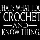 That's What I Do I Crochet And I Know Things by coolfuntees