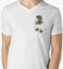 Camiseta de cuello en V Protector de bolsillo - Chica inteligente