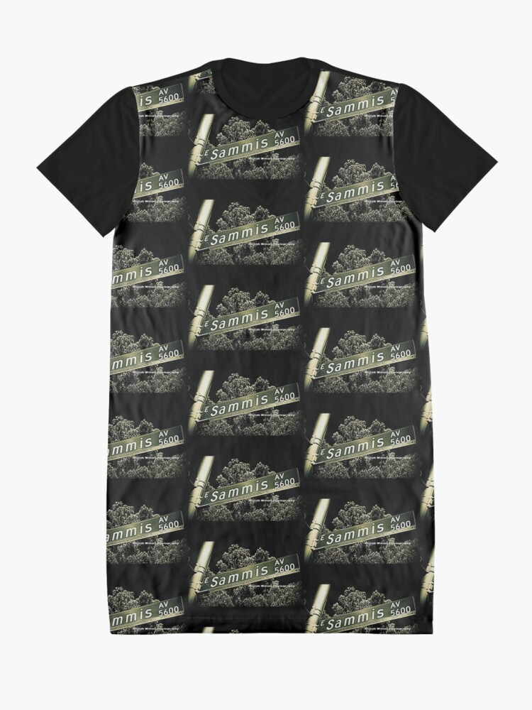 Alternate view of Sammis Avenue, Las Vegas, Nevada by Mistah Wilson Photography Graphic T-Shirt Dress