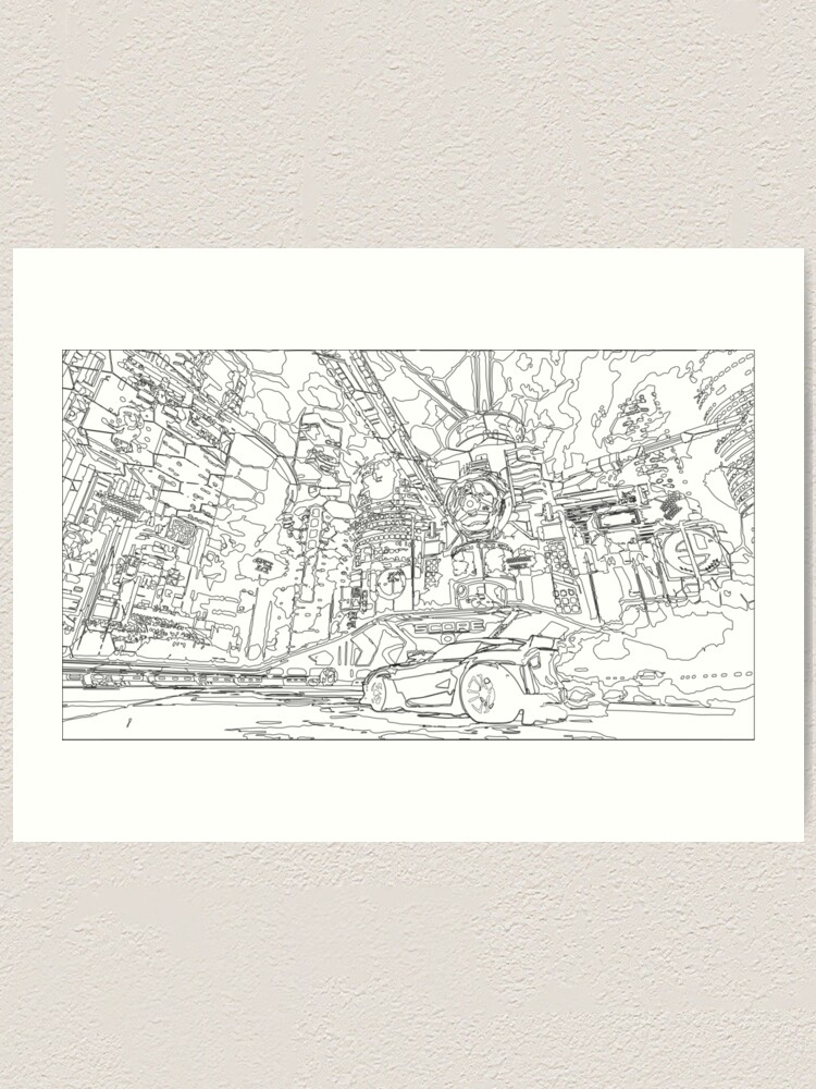 Neo Tokyo Sketch Art Print By Ananaexpress Redbubble (and also which wheels i should put on it) right now i only have one that i fixed yesterday. redbubble