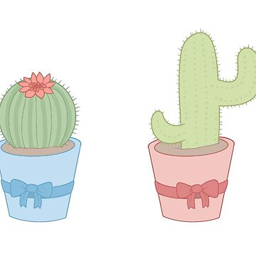Prickly pastel cacti (redrawn) by pastelquartz