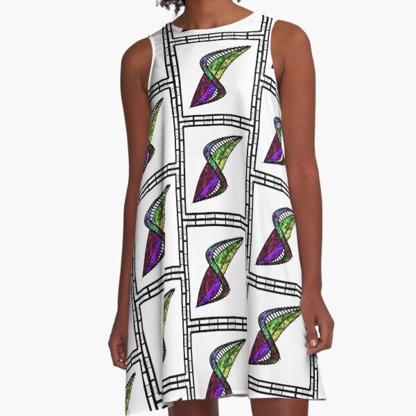 Shou Mei Abstract A-Line Dress