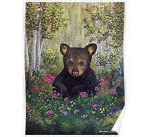 Whimsical Bear Cub Poster