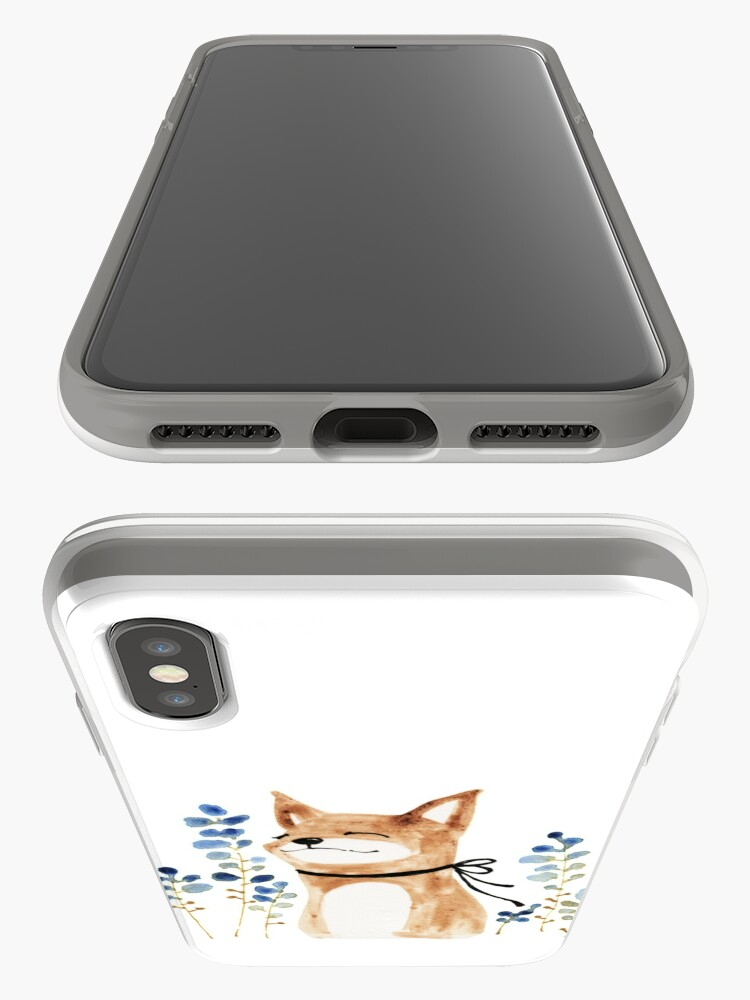 Alternate view of Fox and Flower iPhone Case & Cover